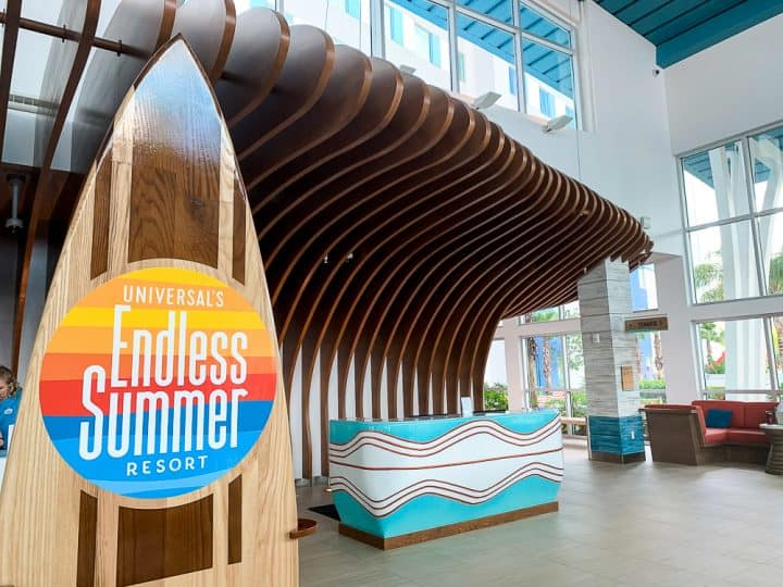 lobby of Universal's endless summer resort