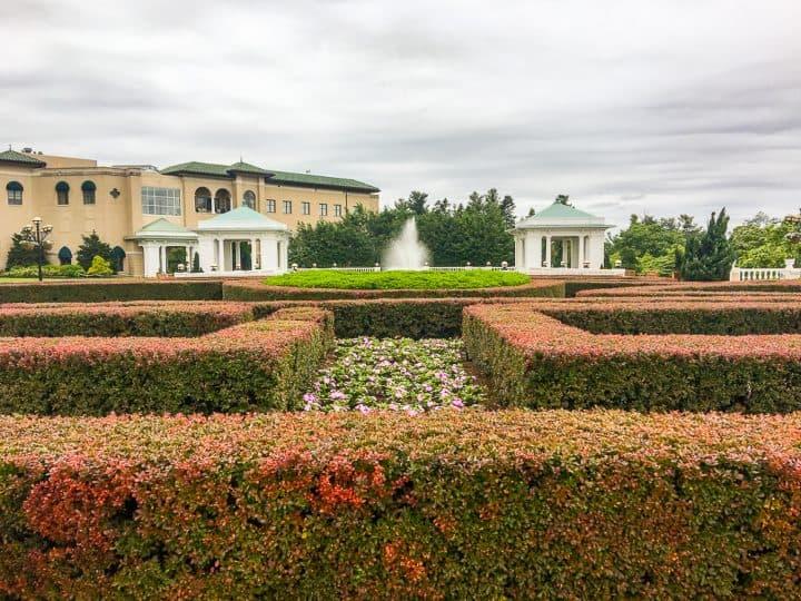 rose gardens at Hotel Hershey